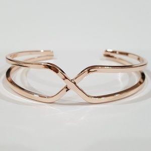 Rose Gold Crossover Cuff Bracelet